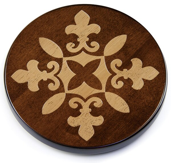 Artisan Woods Fleur De Lis Lazy Susan by Martins Homewares