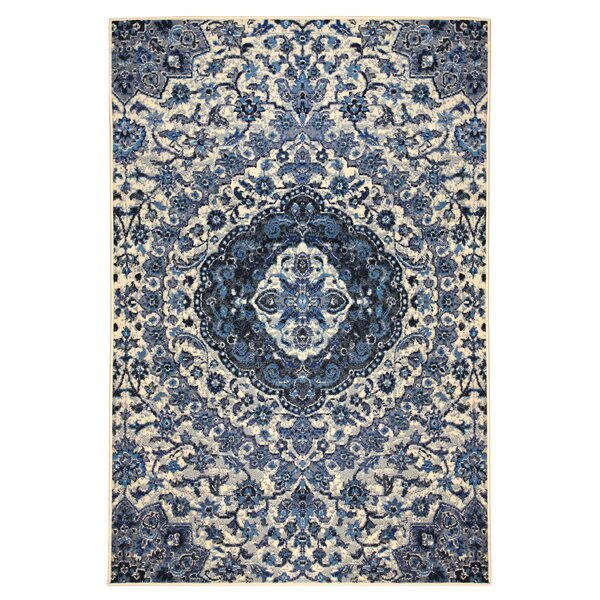 Booth Gray/Blue Area Rug by Bungalow Rose