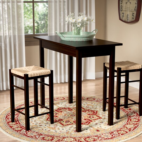 Tenney 3 Piece Counter Height Dining Set by August Grove