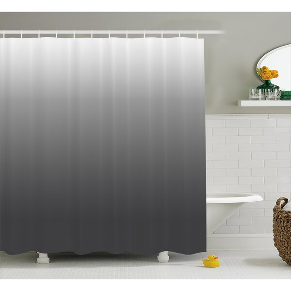 Inspired Metal Smoke Room Decor Shower Curtain by Ebern Designs