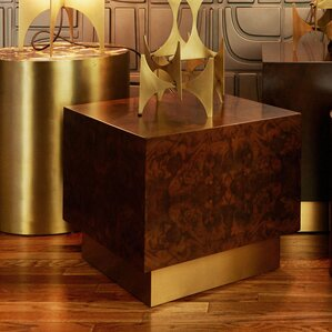 M3LD Milton Burl Small Cube End Table Image