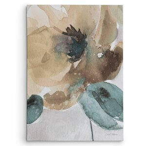 'Watercolor Poppy II' by Carol Robinson Painting Print on Wrapped Canvas by Wexford Home