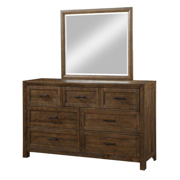 Craigsville 7 Drawer Dresser with Mirror by Three Posts