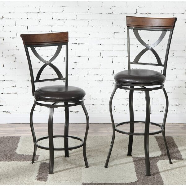 Montagu 24 Swivel Bar Stool (Set of 2) by Darby Home Co