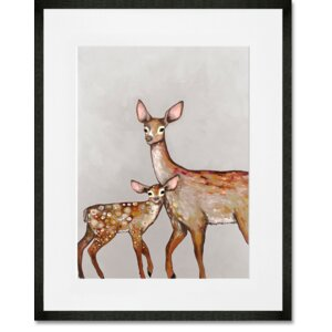 'Deer with Fawn' Print by GreenBox Art
