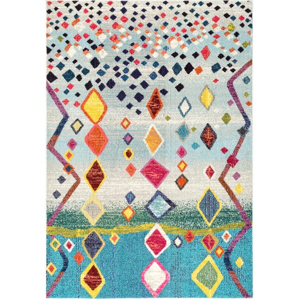 Cian Blue/Gray Area Rug by Bungalow Rose
