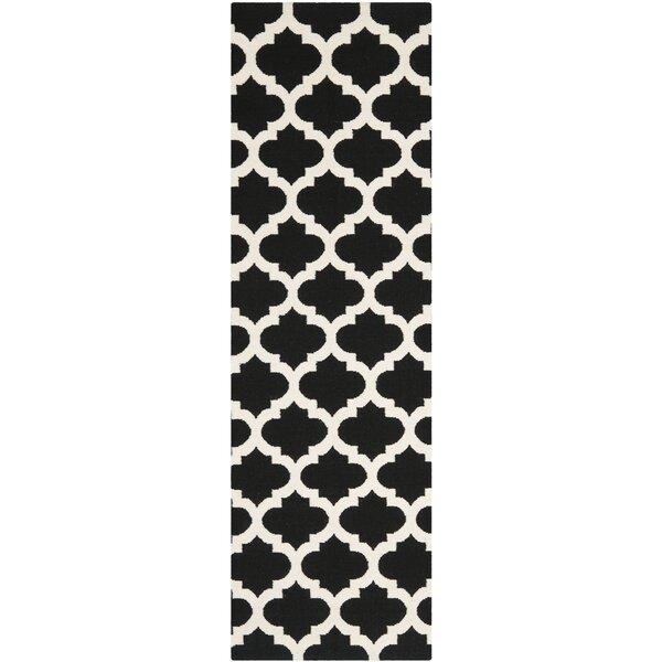 Dhurries Black & Ivory Area Rug by Safavieh