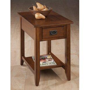 Zachery Wooden Chairside End Table