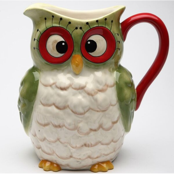 Rahway Owl 52 Oz. Pitcher by August Grove