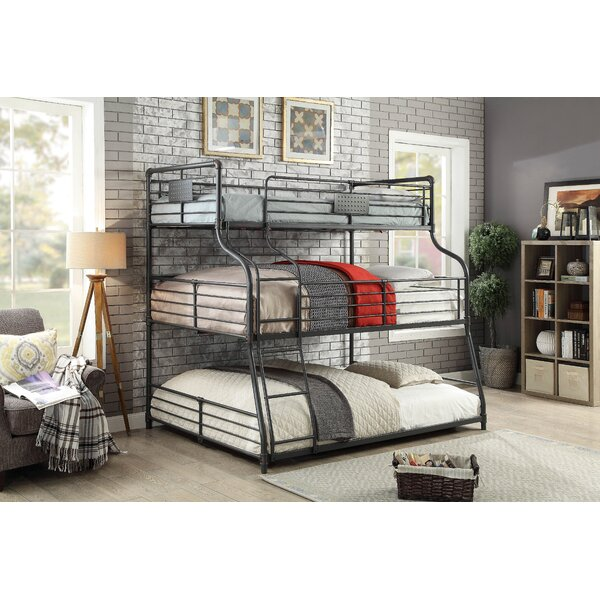 Prather Twin Over Full Over Queen Bunk Bed by Harriet Bee