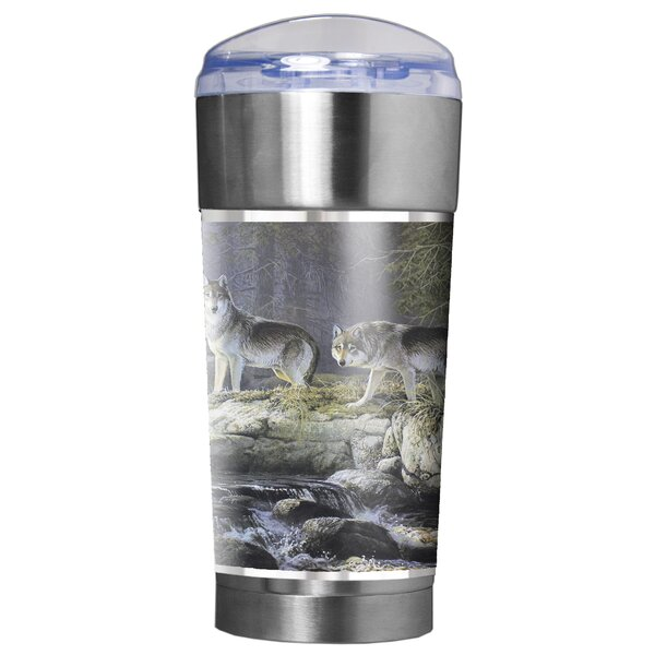 Wolves Traditions 24 oz. Stainless Steel Travel Tumbler by Great American Products