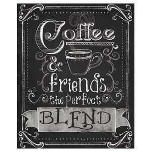 Coffee and Friends by Fiona Stokes-Gilbert Textual Art by Prestige Art Studios
