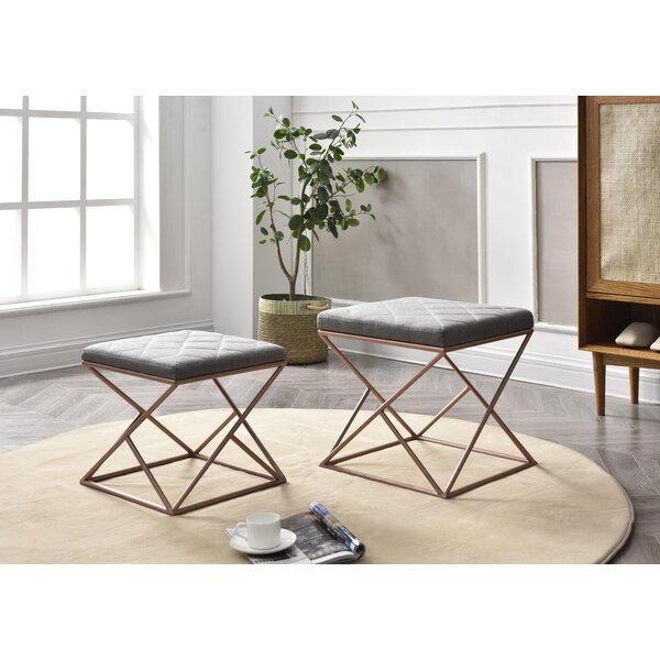 Cavin 2 Piece Upholstered Ottoman Set by Mercer41