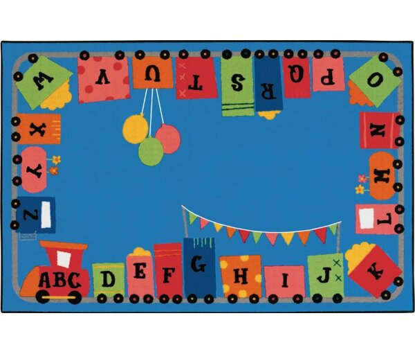 Alphabet Fun Train Kids Rug by Kids Value Rugs