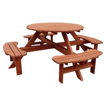Pleasant Riverhead Solid Wood Picnic Table Reviews Joss Main Ibusinesslaw Wood Chair Design Ideas Ibusinesslaworg