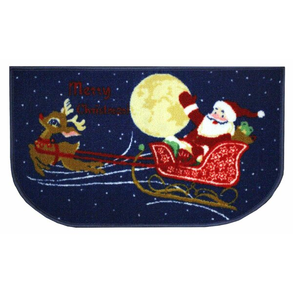 Reindeer and Santa Area Rug by Kashi Home