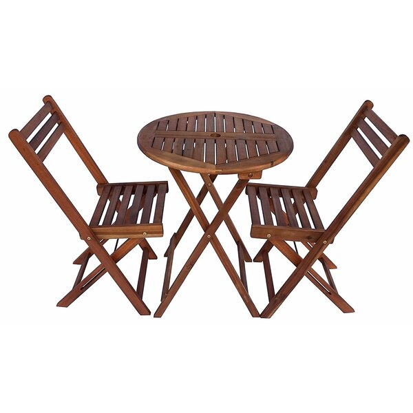 Arrighetto Foldable Round 3 Piece Bistro Set by August Grove