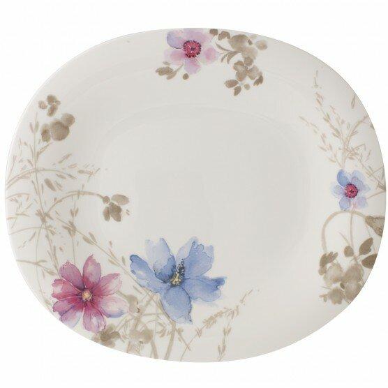 Mariefleur Gris Oval Dinner Plate by Villeroy & Boch