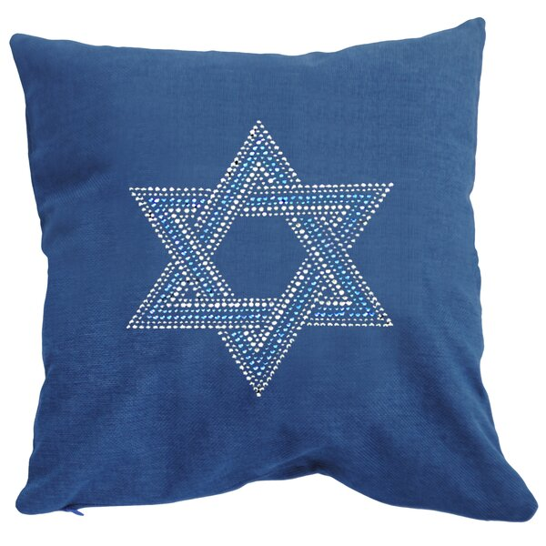 Rhinestone Star of David Throw Pillow by Sparkles Home