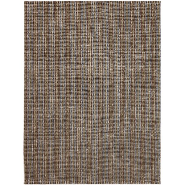 Koleby Striped Hand-Woven Brown Area Rug by Highland Dunes