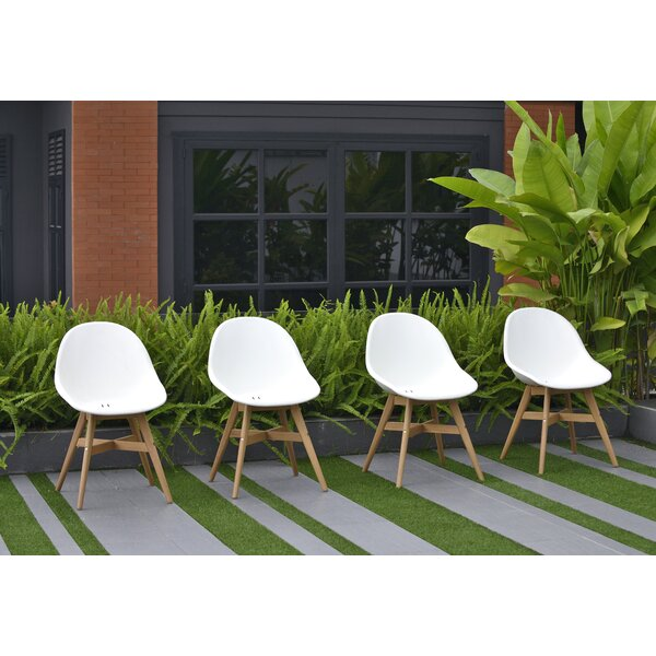 Cruce Patio Side Chair (Set of 4) by Corrigan Studio