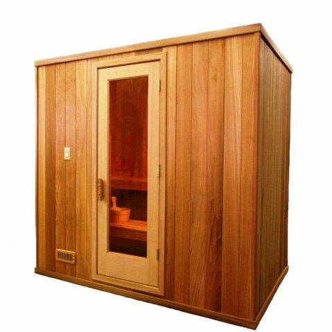Modular 6 Person Traditional Steam Sauna by Baltic Leisure