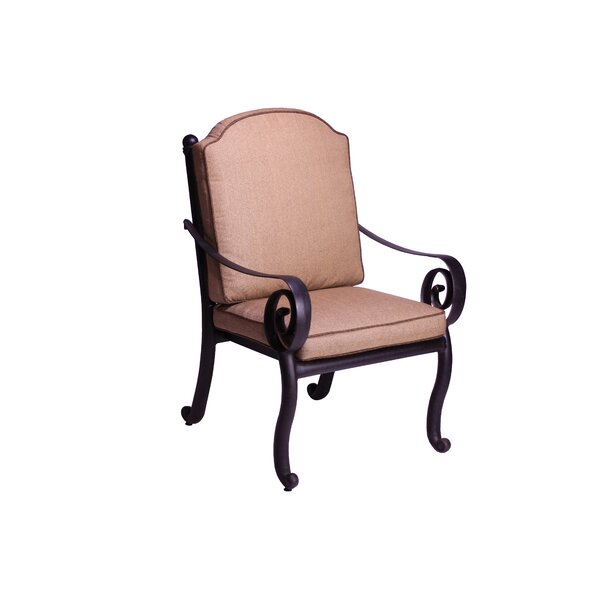 Westhampton Patio Dining Chair with Cushion (Set of 2) by Fleur De Lis Living