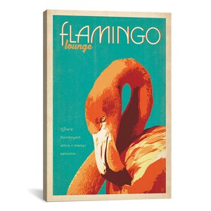 Flamingo Lounge Vintage Advertisement on Canvas by Bay Isle Home