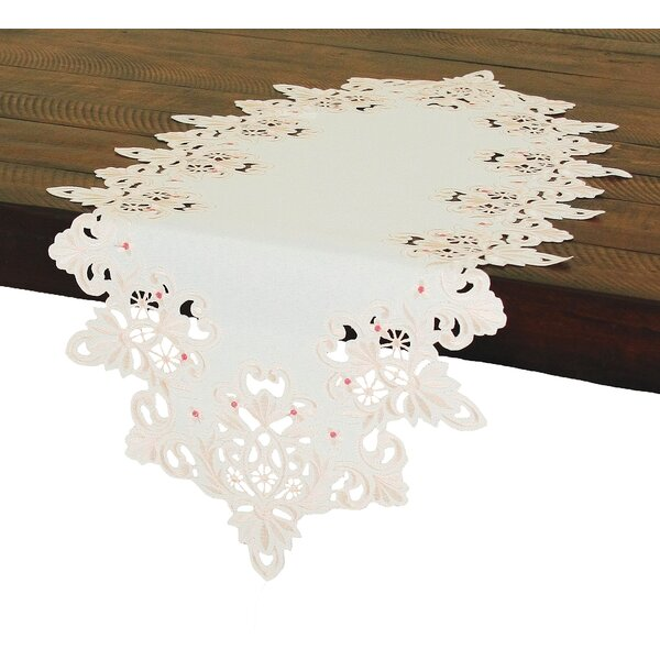 Victorian Lace Embroidered Cutwork Table Runner by Xia Home Fashions