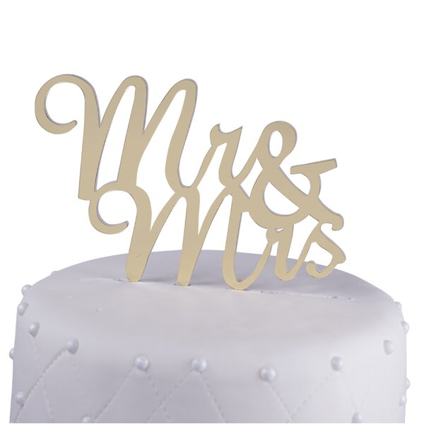 Mr. & Mrs. Acrylic Wedding Cake Topper by Unik Occasions