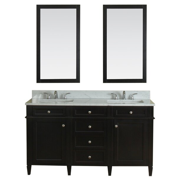 Costillo 60 Double Bathroom Vanity Set with Mirror by Red Barrel Studio