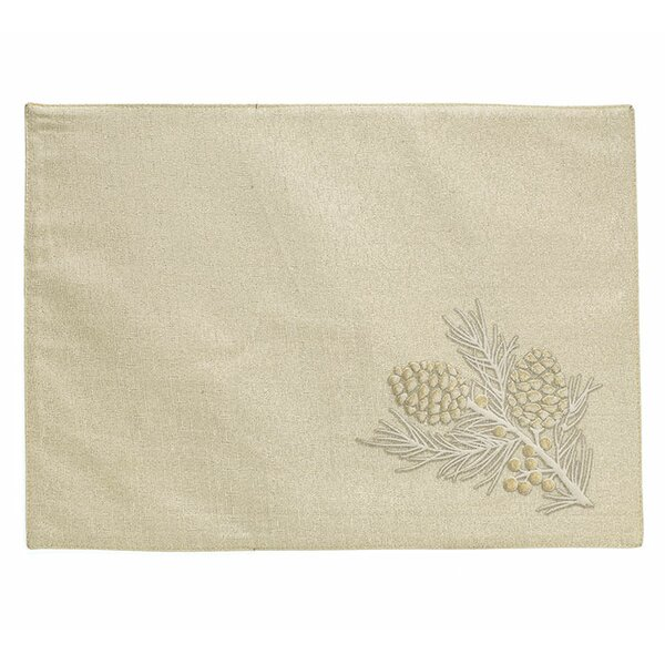 Naturally Noel Pine Cone Placemat (Set of 6) by The Holiday Aisle