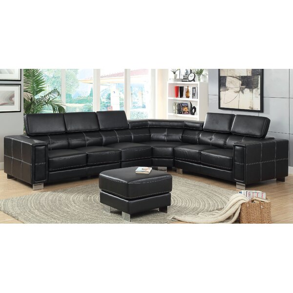 Travillen Reclining Sectional with Ottoman by Hokku Designs