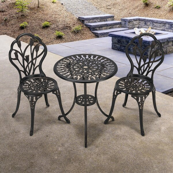 Gatto 3 Piece Dining Set By One Allium Way®