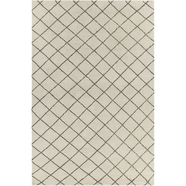 Tenafly Patterned Contemporary Wool Cream/Brown Area Rug by Gracie Oaks