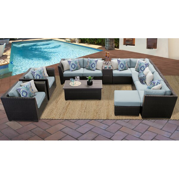 Medley 12 Piece Sectional Seating Group with Cushions by Rosecliff Heights