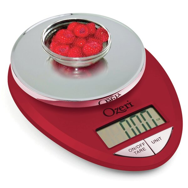 Pro Digital Kitchen Food Scale, 0.05 oz to 12 lbs (1 gram to 5.4 kg) by Ozeri