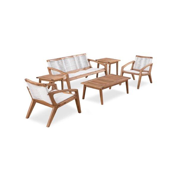 Monique 6 Piece Patio Chair Set by Corrigan Studio Corrigan Studio