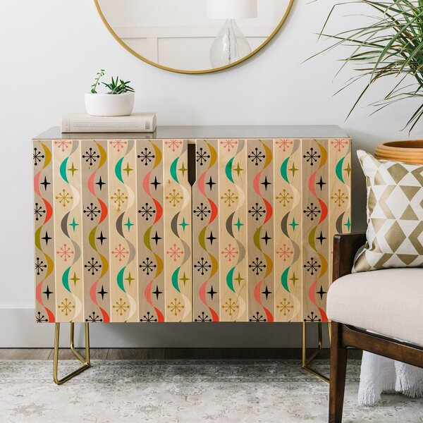 Andii Bird Retro Wave Credenza by East Urban Home East Urban Home