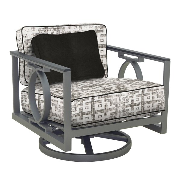 Sunrise Swivel Rocking Chair with Cushion by Leona