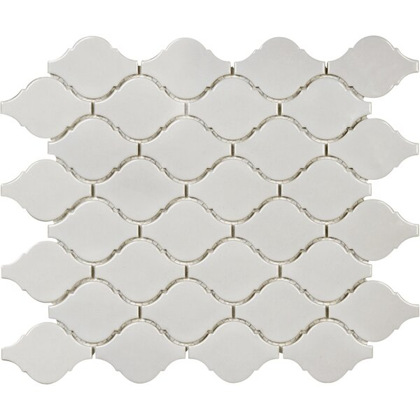 Sail Ceramic/Porcelain Mosaic Tile in Glossy Porpoise by Parvatile