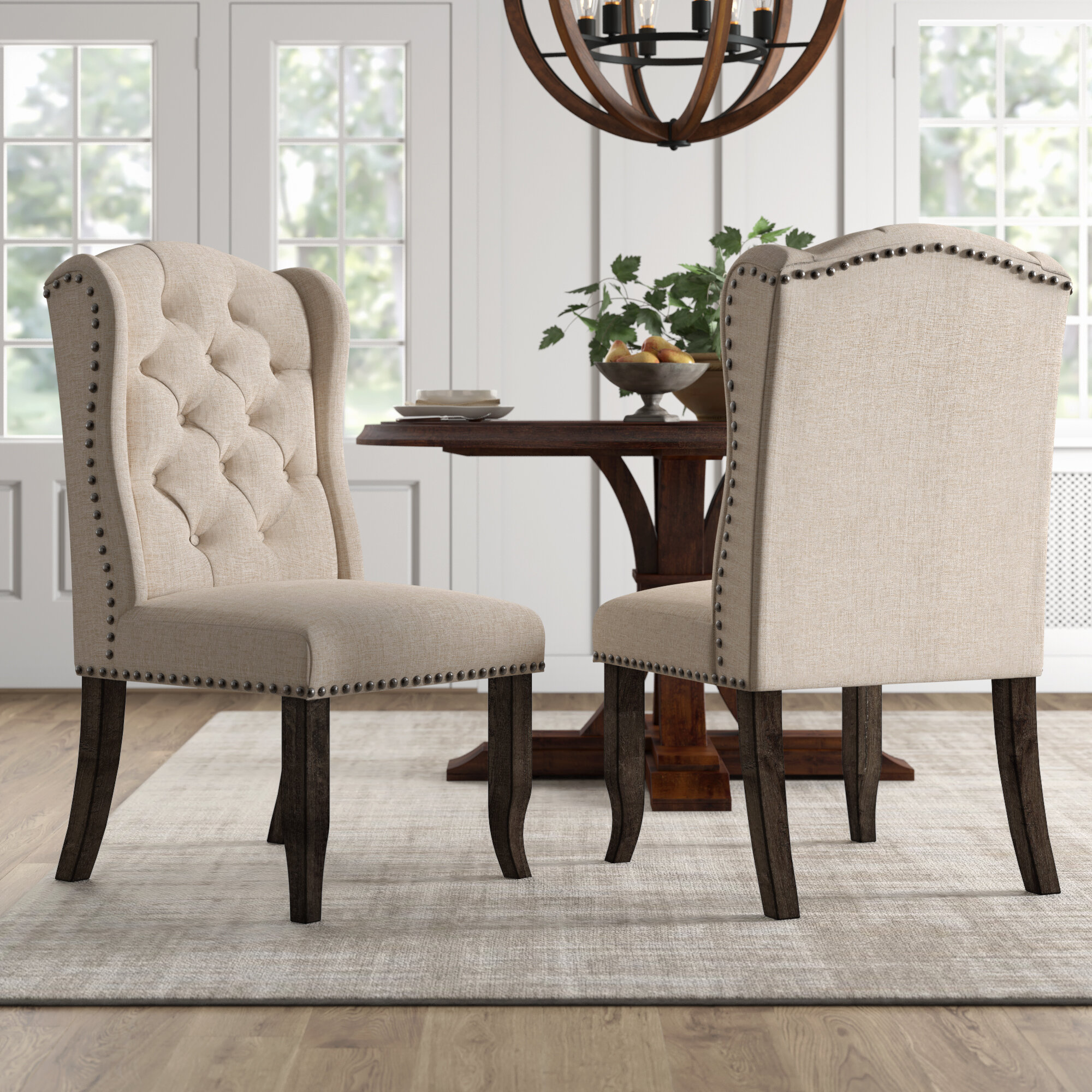 Amazing Calila Upholstered Dining Chair Machost Co Dining Chair Design Ideas Machostcouk