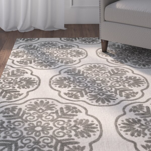 Flintwood Cream/Gray Indoor/Outdoor Area Rug by Three Posts