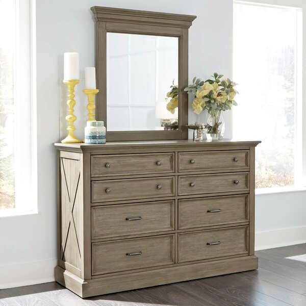 Darin Lodge 8 Drawer Double Dresser with Mirror by Gracie Oaks