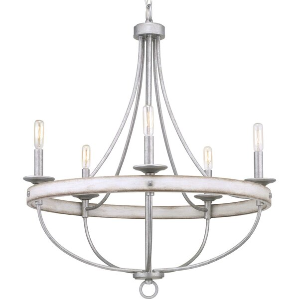 Kingsley 5 - Light Shaded Empire Chandelier with Crystal Accents by Three Posts Three Posts