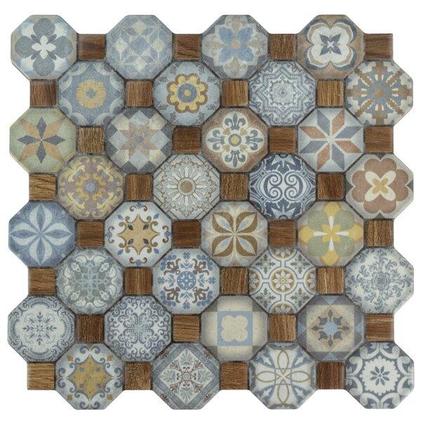 Edredon 12.25 x 12.25 Ceramic Tile in Brown/Blue by EliteTile