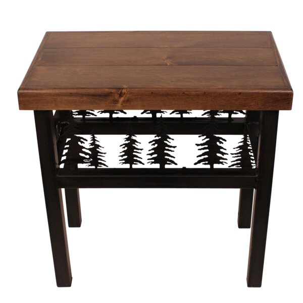 Bianca Deer/Feather End Table by Millwood Pines