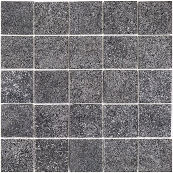 Malaga 2 x 2 Porcelain Mosaic Tile in Smokey Gray by Splashback Tile