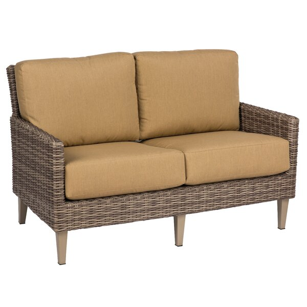 Parkway Loveseat with Cushions by Woodard