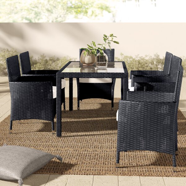 Alani 7 Piece Dining Set with Cushions by Mistana